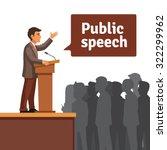 public speaker standing behind... | Shutterstock .eps vector #322299962