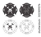 set of fire department emblems... | Shutterstock . vector #322309376