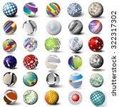 set of various detail spheres... | Shutterstock .eps vector #322317302