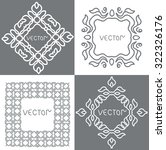 floral outline frames and... | Shutterstock .eps vector #322326176