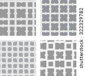 set of seamless geometric... | Shutterstock .eps vector #322329782