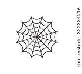 spider web icon vector | Shutterstock .eps vector #322334516