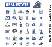 real estate icons | Shutterstock .eps vector #322336622