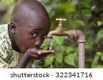 water scarcity in the world... | Shutterstock . vector #322341716