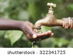water scarcity in the world... | Shutterstock . vector #322341725