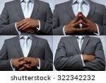 hand position. non verbal... | Shutterstock . vector #322342232
