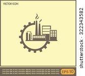 industrial icon | Shutterstock .eps vector #322343582