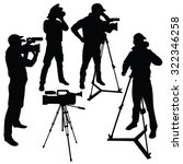 cameraman with video camera.... | Shutterstock .eps vector #322346258