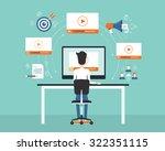 business on line video...   Shutterstock .eps vector #322351115