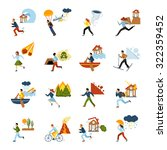human escape from different... | Shutterstock .eps vector #322359452