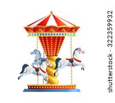 Realistic Retro Carousel With...