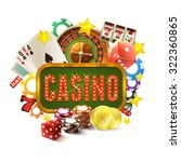 casino frame with realistic... | Shutterstock .eps vector #322360865