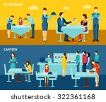restaurant canteen catering... | Shutterstock .eps vector #322361168