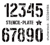 stencil plate numbers in... | Shutterstock .eps vector #322364486
