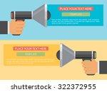 flat design vector business... | Shutterstock .eps vector #322372955