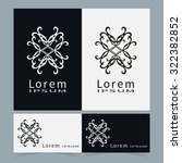 logo icon label and business... | Shutterstock .eps vector #322382852