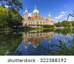 Stock photo new town hall in hanover germany at day 322388192