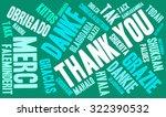 international thank you word... | Shutterstock .eps vector #322390532