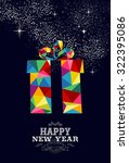 happy new year greeting card or ... | Shutterstock . vector #322395086