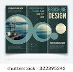 vector modern tri fold brochure ... | Shutterstock .eps vector #322395242