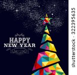 happy new year greeting card or ... | Shutterstock . vector #322395635