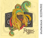 vector illustration with reggae ... | Shutterstock .eps vector #322396502