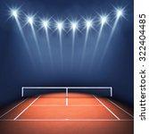 tennis court and floodlights  ... | Shutterstock . vector #322404485