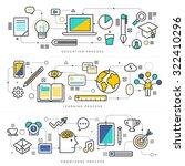 flat design concept education... | Shutterstock .eps vector #322410296