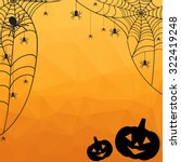 halloween background. vector... | Shutterstock .eps vector #322419248