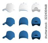 light blue baseball cap vector... | Shutterstock .eps vector #322430468