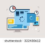 responsive design  website... | Shutterstock .eps vector #322430612