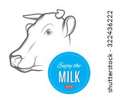 cow logo design template. great ... | Shutterstock .eps vector #322436222