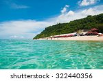 transparent and clean sea water ... | Shutterstock . vector #322440356