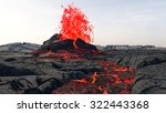 volcanic eruption. lava | Shutterstock . vector #322443368