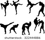 the set of 6 muay thai... | Shutterstock .eps vector #322444886