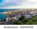 panoramic view of the port in... | Shutterstock . vector #322452425