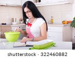 young woman working in the... | Shutterstock . vector #322460882