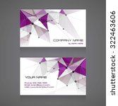 business card abstract... | Shutterstock .eps vector #322463606