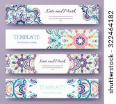 set of ethnic ornament banners... | Shutterstock .eps vector #322464182