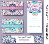 set of ethnic ornament banners... | Shutterstock .eps vector #322464242