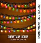 colorful christmas light bulbs... | Shutterstock .eps vector #322466282