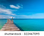 contemplating the sea way to... | Shutterstock . vector #322467095
