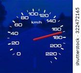 speedometer over a blurred road ... | Shutterstock . vector #322472165
