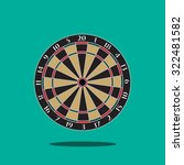 dartboard vector illustration. | Shutterstock .eps vector #322481582