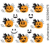 cute halloween pumpkin vector... | Shutterstock .eps vector #322504475