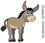 Cute Donkey On White Backgroun...