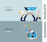 flat style web banner set.... | Shutterstock .eps vector #322511372