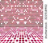 red dot empty perspective... | Shutterstock . vector #322518902
