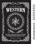western border vintage frame... | Shutterstock .eps vector #322519322