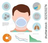 respiratory infographic  man in ... | Shutterstock .eps vector #322523276
